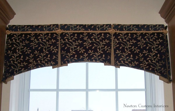 Box Pleated Valance With Arched Bottom Newton Custom Interiors