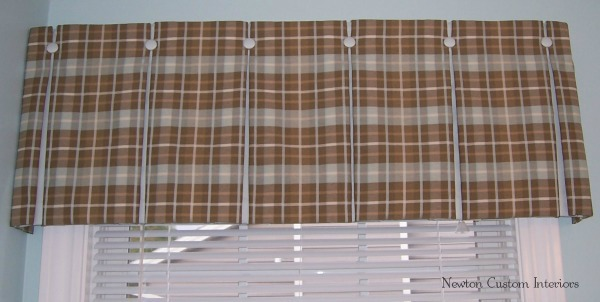 Box Pleat Window Valance Pattern Box Pleated Valance With