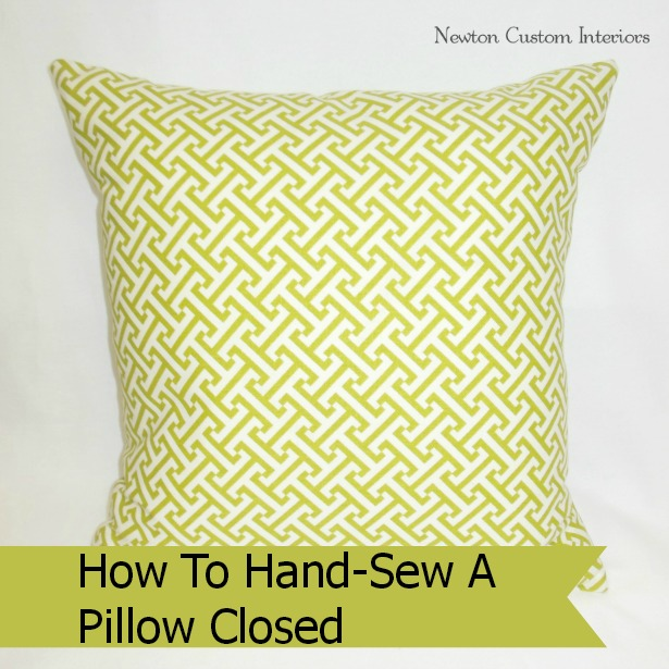 Hand Sew Pillow Closed