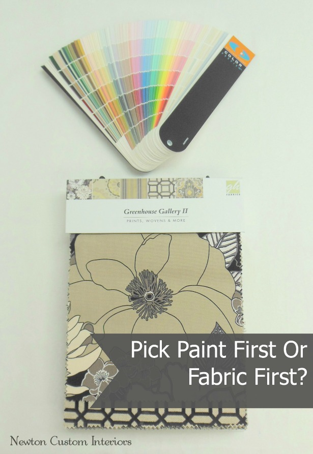 Pick Paint Colors First Or Fabric First?