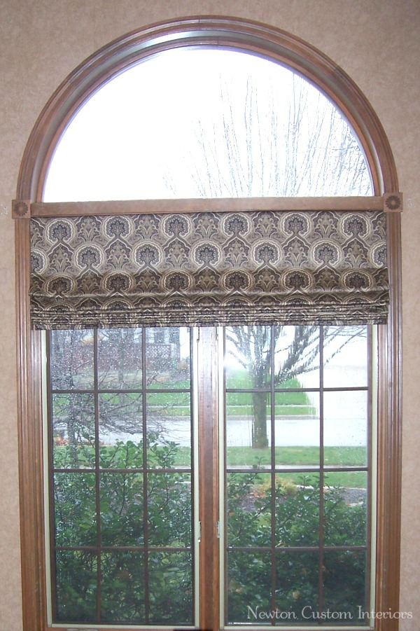Roman Shade In Arched Window Newton Custom Interiors