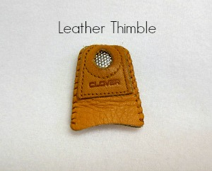 leather thimble