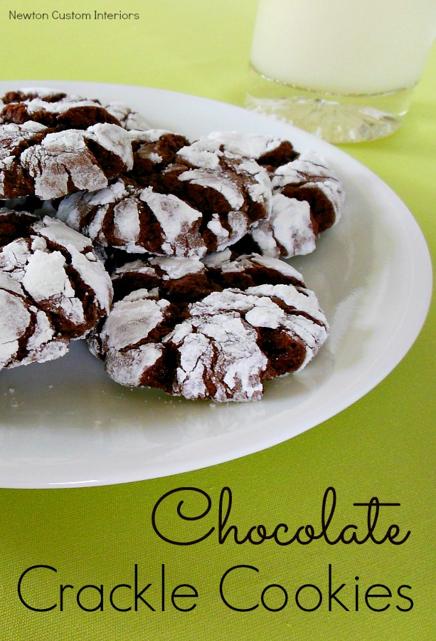 Chocolate Crackle Cookies from NewtonCustomInteriors.com