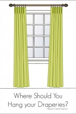 Where SHould You Hang Your Draperies from NewtonCustomInteriors.com