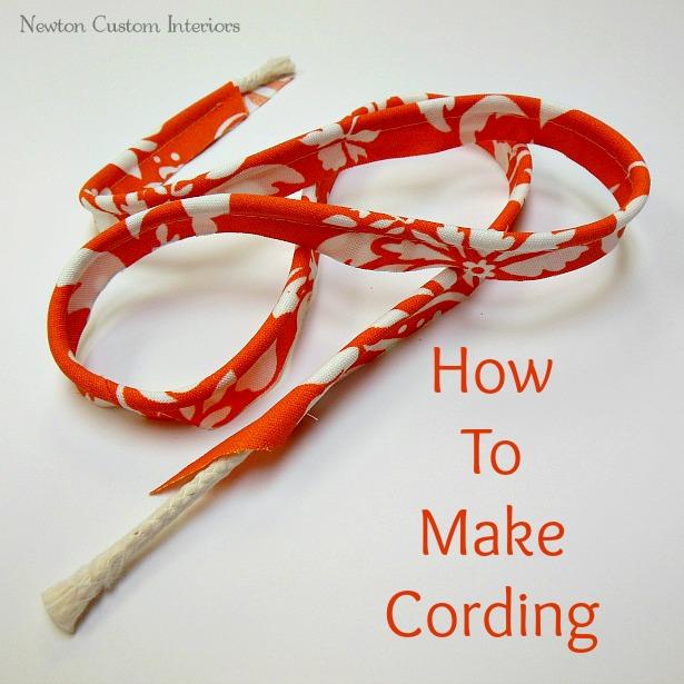 How to make cording newton custom interiors
