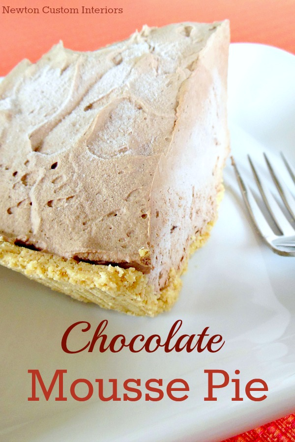 ... delicious than this frozen chocolate mousse pie for hot summer days