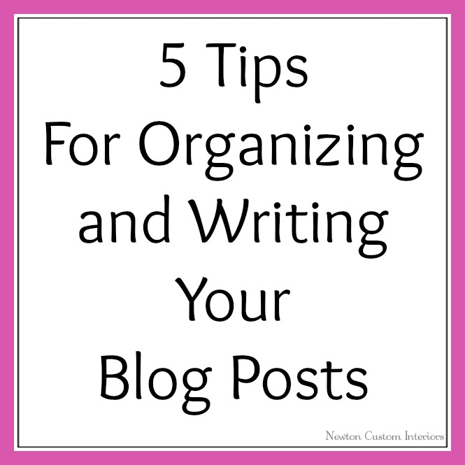 Tips on writing a good blog post