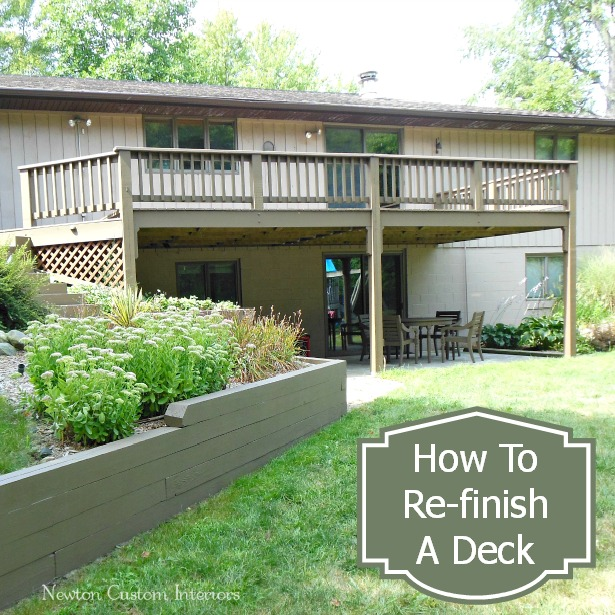 How To Re-Finish A Deck