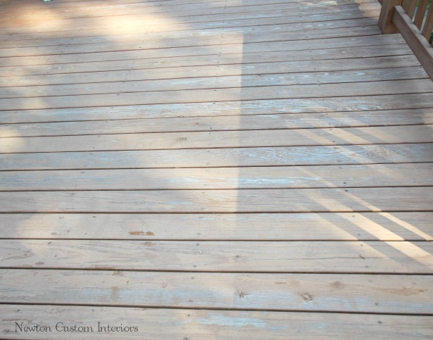 ... wood surface to cover. Two deck levels, railings, walk way, stairs and