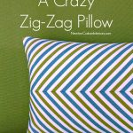 How To Make A Crazy Zig-Zag Pillow from NewtonCustomInteriors.com