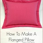 How To Make A Flanged Pillow from NewtonCustomInteriors.com