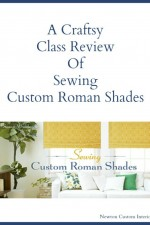 Sewing Custom Roman Shades – Craftsy Class Review