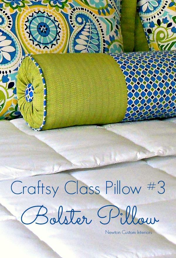 Craftsy Class Bolster Pillow