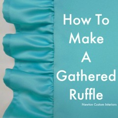 How To Make A Gathered Ruffle cropped
