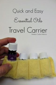 Essential Oils Travel Carrier from NewtonCustomInteriors.com
