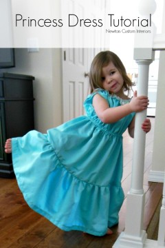 Princess Dress Tutorial from NewtonCustomInteriors.com