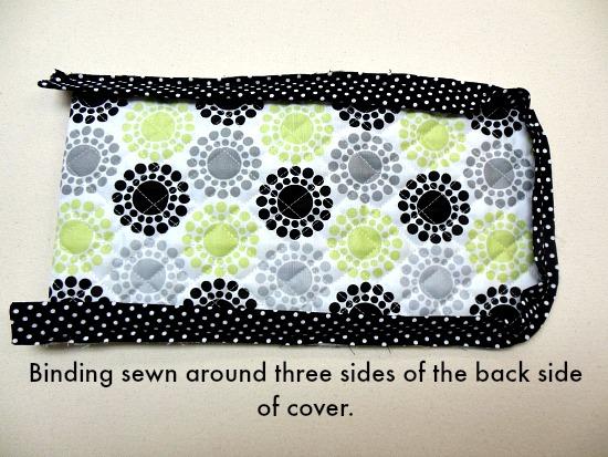 binding on back side