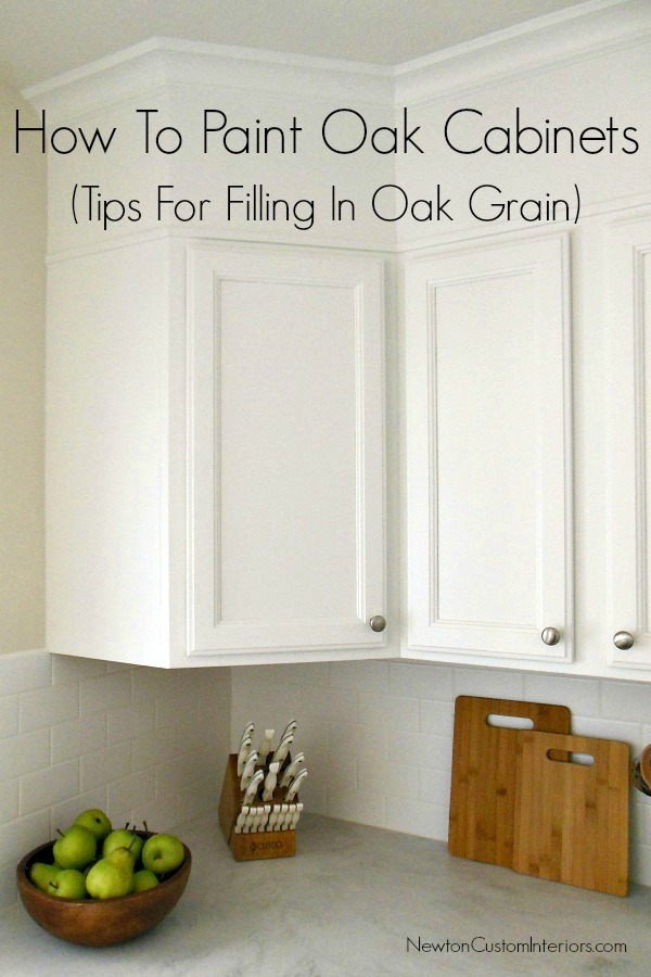 How to paint oak cabinets for How to paint white cabinets