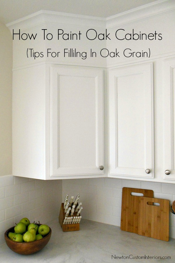 How to paint oak cabinets for Best way to paint kitchen cabinets white