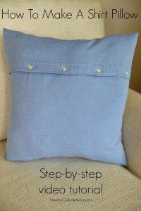 make a shirt pillow