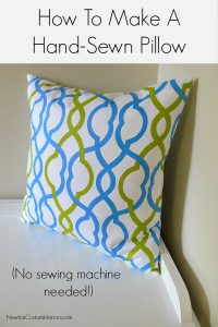 How To Make A Hand-Sewn Pillow from NewtonCustomInteriors.com.