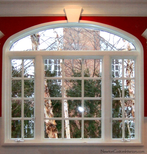 Eyebrow window treatments newton custom interiors for Window design arch