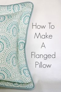 How To Make A Flanged Pillow With Cording