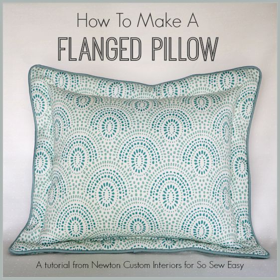 How To Make A Flanged Pillow. If you want the very best in custom pillows then this is for you!  Top quality flanged pillow with corded edge and no floppy flanges!