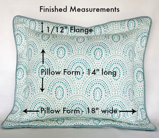 flanged pillow finished measurements