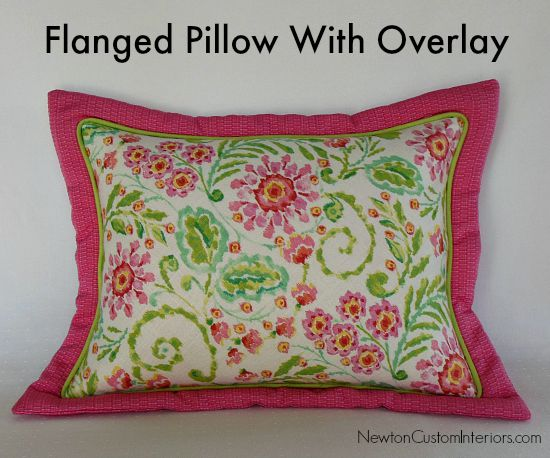 How To Make A Flanged Pillow So Sew Easy Unique How To Sew A Decorative Pillow