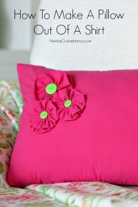 How To Make A Shirt Pillow With Added Details