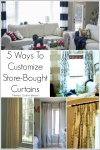 5 Ways To Customize Store Bought Curtains