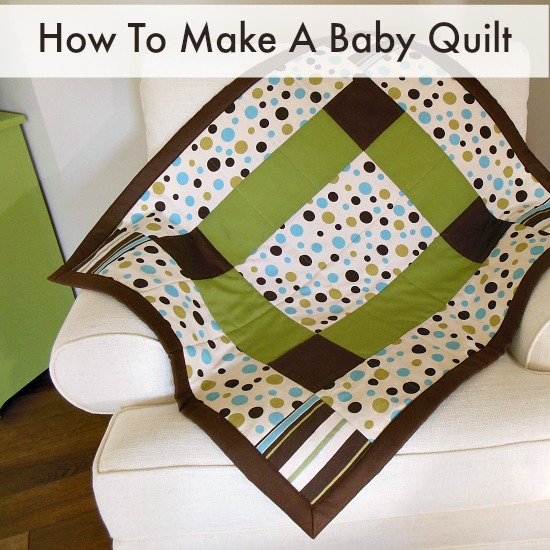 How To Make A Baby Quilt. Easy enough to make your first ever quilt pattern.  Nice big pieces, nice big binding, nice big seams.  You can do it!