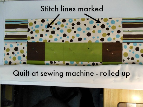 stitch lines marked