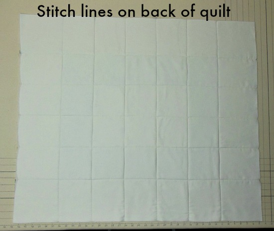 stitch lines on back of quilt