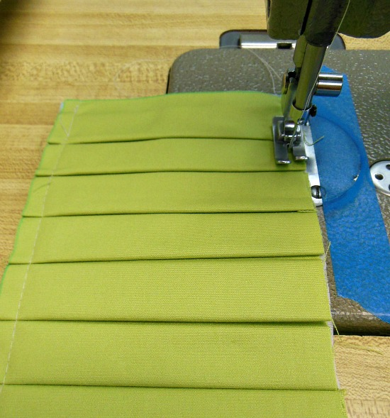 sewing other side of pleat