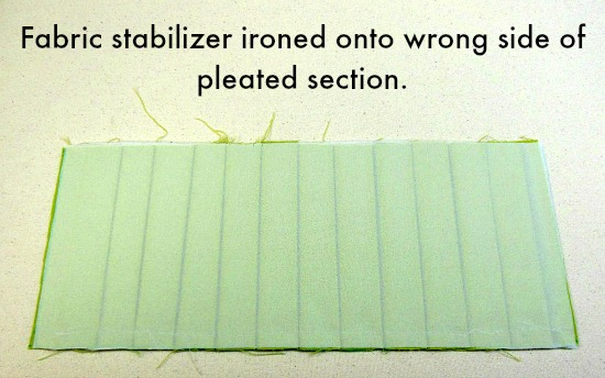 stabilizer ironed on