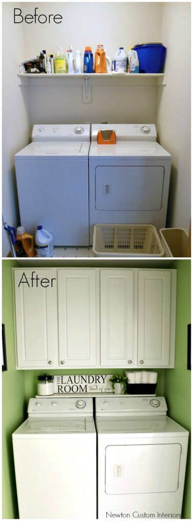 Small Laundry Room Reveal from NewtonCustomInteriors.com
