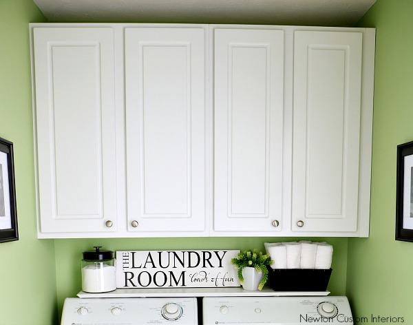 Organizing A Small Laundry Room Newton Custom Interiors