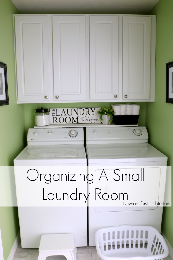 Organizing A Small Laundry Room - If you have a small laundry room that is really just a closet, these tips and tricks will help you make the most of the space.