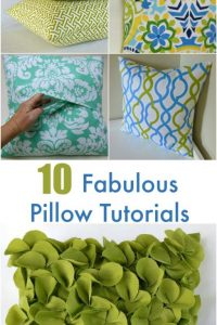 10 Fabulous Pillow Tutorials
